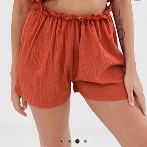 ASOS Shorts - ASOS Design Petite beach jersey shorts in crinkle
